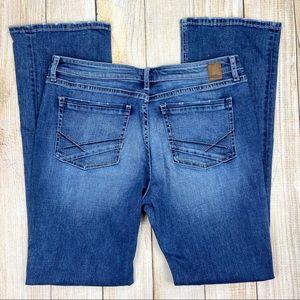 BKE Buckle High Rise Gabby Bootcut Jeans, Distress